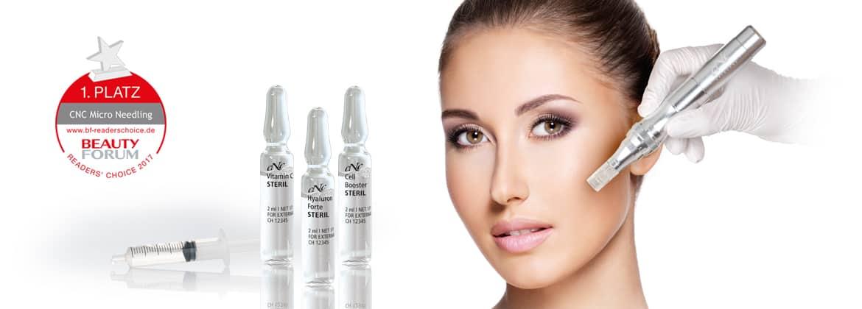 Kosmetikbehandlung Micro Needling in dem Kosmetikstudio Kosmegi in Mainz