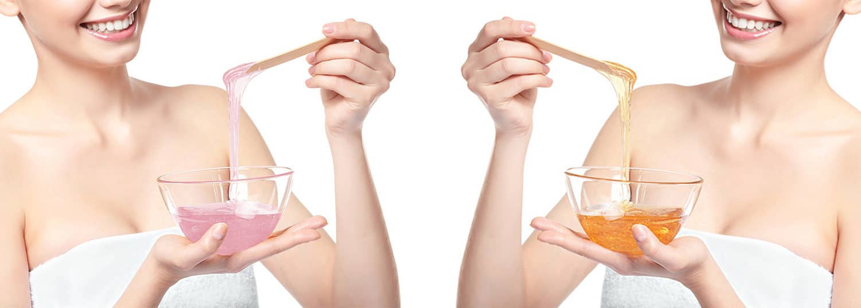 Kosmetikbehandlung Haarentfernung Wachs und Zucker in dem Kosmetikstudio Kosmegi in Mainz
